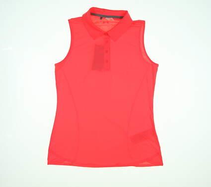 New Womens Under Armour Sleeveless Golf Polo Medium M Neon Orange MSRP $55