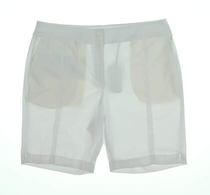 New Womens EP Pro Golf Shorts 10 White NS8000 MSRP $80.00