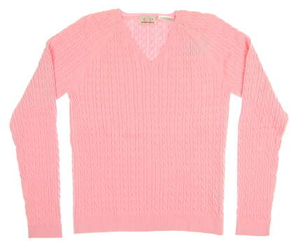 New Womens EP Pro Golf Sweater Small S Pink MSRP $90