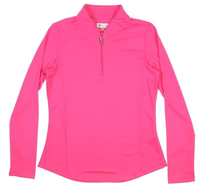 New Womens Greg Norman 1/4 Zp Golf Pullover Small Pink MSRP $80