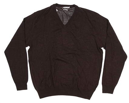 New Mens Peter Millar Sweater Large L Brown MF14S31 MSRP $130
