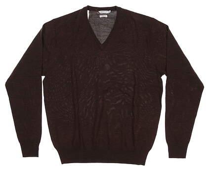 New Mens Peter Millar Sweater Medium M Brown MF14S31 MSRP $130