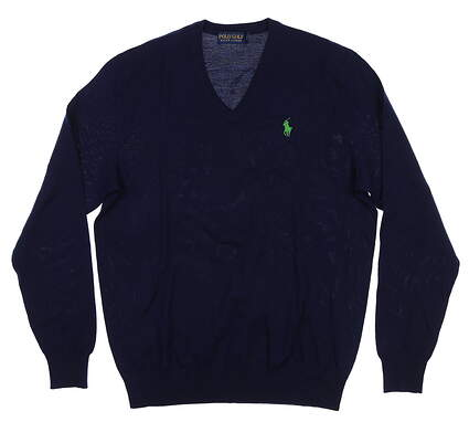 New Mens Ralph Lauren Classics Sweater Small S French Navy 781562703003 MSRP $149.99