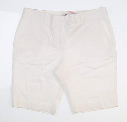 New Womens Vineyard Vines Dayboat Bermuda Shorts White MSRP $88 2H0205-100