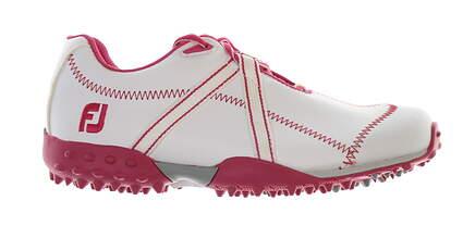 New Junior Golf Shoe Footjoy Junior Leisure Medium 2 White/Pink MSRP $70