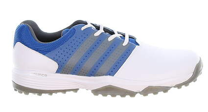 New Mens Golf Shoe Adidas 360 Traxion Medium 10 White/Blue/Gray MSRP $80