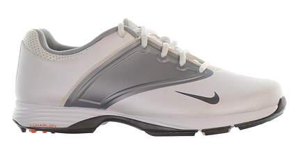 New Womens Golf Shoe Nike Lunar Saddle Medium 8 White/Grey MSRP $75