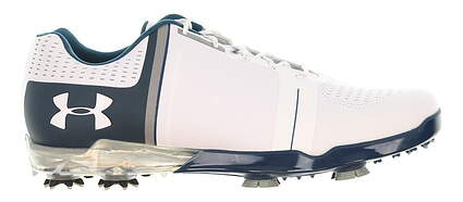 New Mens Golf Shoe Under Armour UA Spieth One 9 White/Blue/Grey MSRP $200