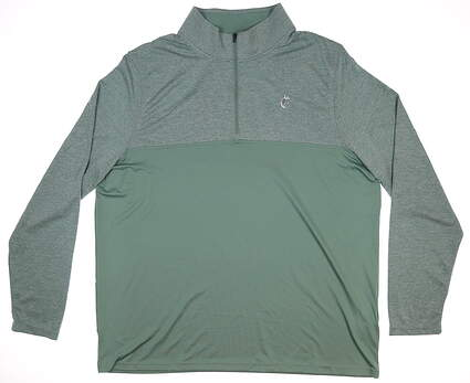 New W/ Logo Mens Under Armour 1/4 Zip Golf Pullover XX-Large XXL Green MSRP $75