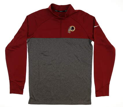 New W/ Logo Mens Nike Therma 1/4 Zip Pullover Small S Maroon/Gray MSRP $90