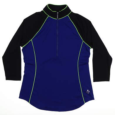 New Womens Jo Fit 3/4 Sleeve Raglan Mock Small S Multi MSRP $80 GT127-BBY