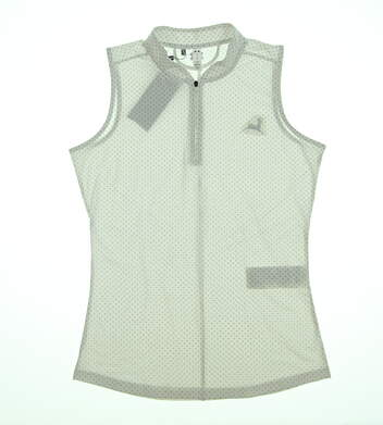 New W/ Logo Womens Under Armour Sleeveless Golf Polo Small S White UW1441 MSRP $65