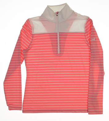 New W/ Logo Womens Footjoy 1/4 Zip Pullover Small S Pink MSRP $85