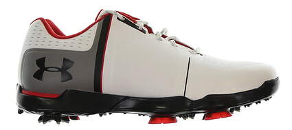 New Junior Golf Shoe Under Armour UA Spieth One 6Y Black/White/Red MSRP $85 11301154-108