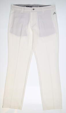 New Mens Adidas Ultimate 3- Stripe Pants 34x32 White MSRP $80 BC5681