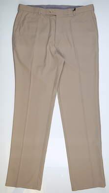 New Mens Peter Millar Golf Pants 38x34 Khaki MSRP $115 MS14EB78FB