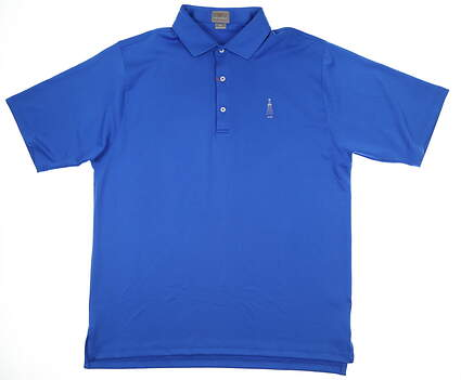 New W/ Logo Mens Fennec Golf Polo X-Large XL Blue MSRP $90