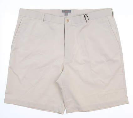 New Mens Fennec Golf Shorts 40 Khaki/White MSRP $90