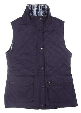 New Womens Peter Millar Golf Vest Small S Navy Blue MSRP $146