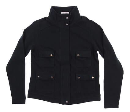 New Womens Peter Millar Golf Jacket Medium M Black MSRP $170