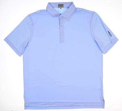 New W/ Logo Mens Fennec Golf Polo X-Large XL Blue 182F041 MSRP $80