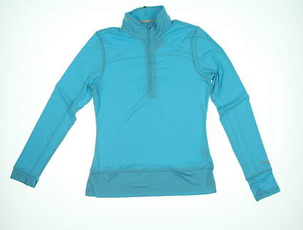 New Womens Puma 1/2 Zip Golf Pullover Small S Blue 572377 MSRP $69