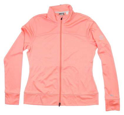New W/ Logo Womens Puma Golf Jacket Large L Salmon 572376 MSRP $80
