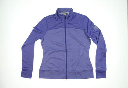 New W/ Logo Womens Puma Golf Jacket Large L Blue MSRP $80