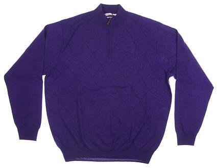 New Mens Peter Millar 1/4 Zip Golf Sweater XX-Large XXL Blue MSRP $138