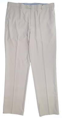 New Mens Peter Millar Golf Pants 38 x34 Khaki MF15EB78FB MSRP $115