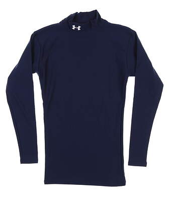New Mens Under Armour Long Sleeve Golf Small S Navy Blue MSRP $50