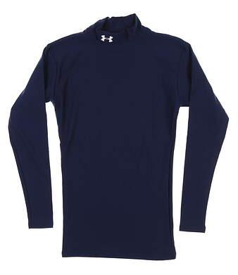 New Mens Under Armour Long Sleeve Golf Medium M Navy Blue MSRP $50