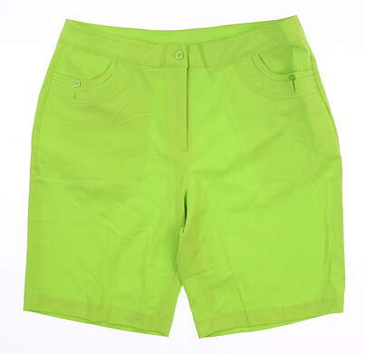 New Womens EP Pro Golf Shorts 10 Green Gecko MSRP $80