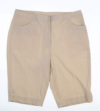 New Womens EP Pro Golf Shorts 12 Sand MSRP $80