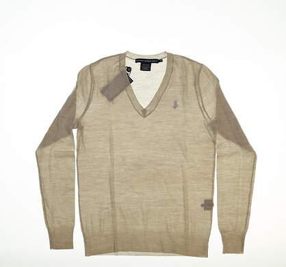 New Womens Ralph Lauren Merino Sweater Small S Tan MSRP $100 0160936