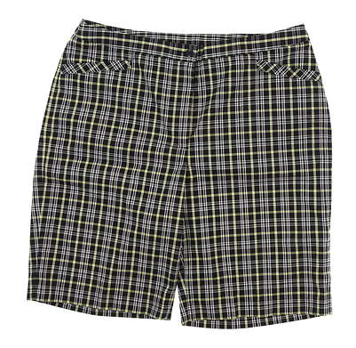New Womens EP Pro Golf Shorts 14 Black MSRP $75