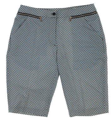New Womens EP Pro Golf Shorts 8 Multi 8112FA MSRP $80