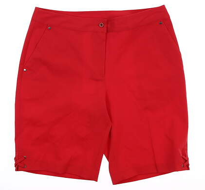 New Womens EP Pro Golf Shorts 10 Red MSRP $80