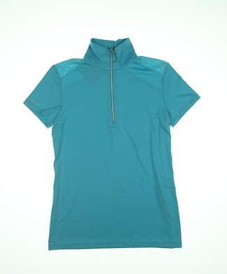 New Ralph Lauren Womens Golf Polo Small S Aqua Blue MSRP $90