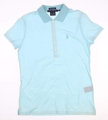 New Womens Ralph Lauren Golf Polo Medium M Blue MSRP $90