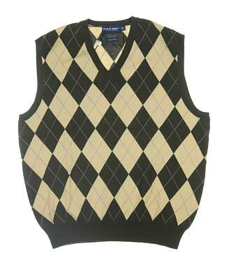 New Mens Ralph Lauren Golf Sweater Vest Large L Brown MSRP $185