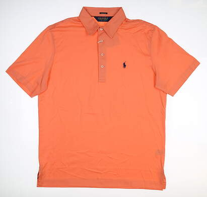New Mens Ralph Lauren Golf Polo Large L Orange MSRP $90