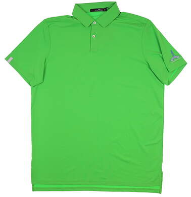 New W/ Logo Mens Ralph Lauren RLX Golf Polo Large L Green MSRP $95