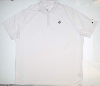 New W/ Logo Mens Nike Golf Polo 4XL XXXXL White MSRP $65