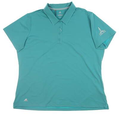 New W/ Logo Mens Adidas Polo XX-Large XXL Green CW6606 MSRP $70