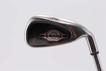 Callaway 2002 Big Bertha Single Iron 4 Iron Stock Steel Shaft Steel Uniflex Right Handed 38.5 in