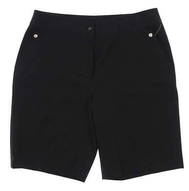New Womens EP Pro Golf Shorts 12 Black MSRP $75
