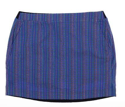 New Womens Ralph Lauren Golf Skort Size Large L Blue MSRP $145