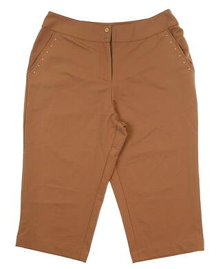 New Womens Tail Golf Capris 6 Brown MSRP $85