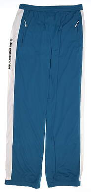 New Womens Sun Mountain Golf Wind Pants X-Large XL Blue/White MSRP $130